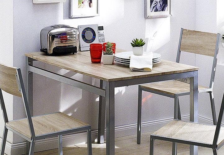 tischgruppe gilbert tisch und 4 st hle in eiche sonoma. Black Bedroom Furniture Sets. Home Design Ideas
