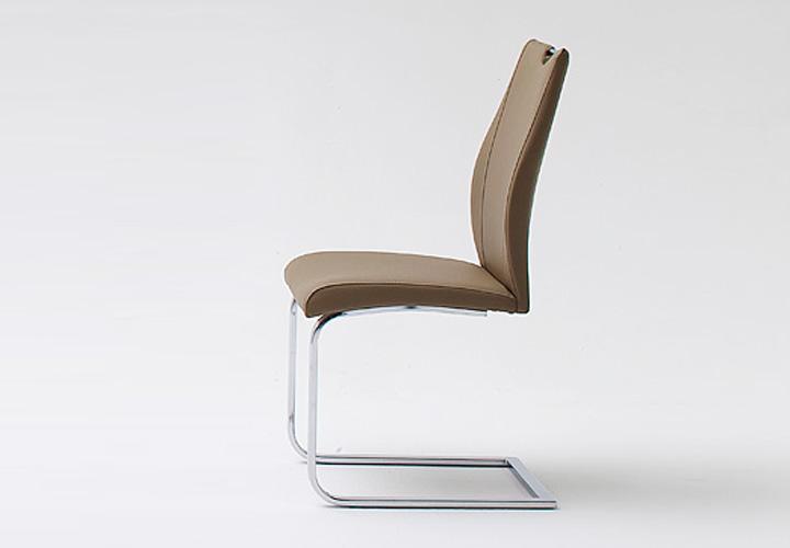 6er set schwingstuhl elina cappuccion und chrom. Black Bedroom Furniture Sets. Home Design Ideas