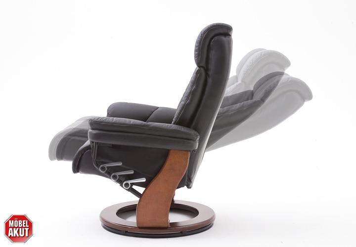 relaxsessel toronto mit hocker echtes leder schwarz. Black Bedroom Furniture Sets. Home Design Ideas