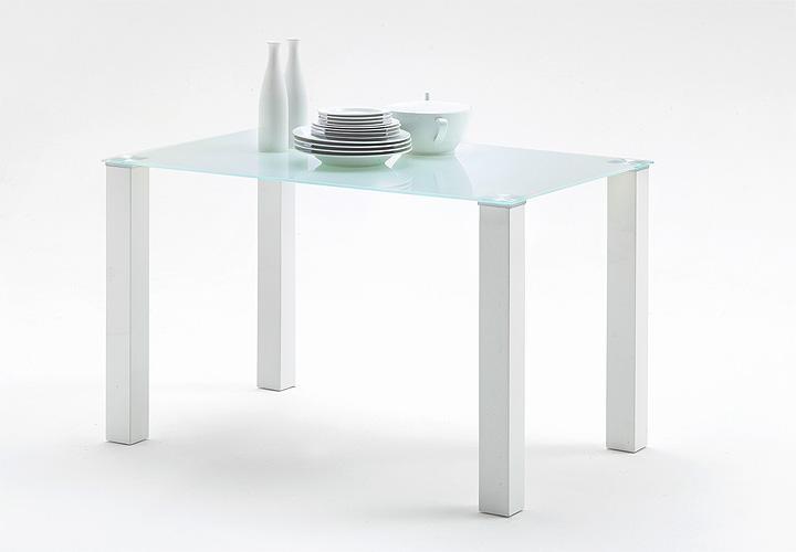tisch hanna esstisch k chentisch esszimmertisch wei hochglanz lack glas 120x80 ebay. Black Bedroom Furniture Sets. Home Design Ideas