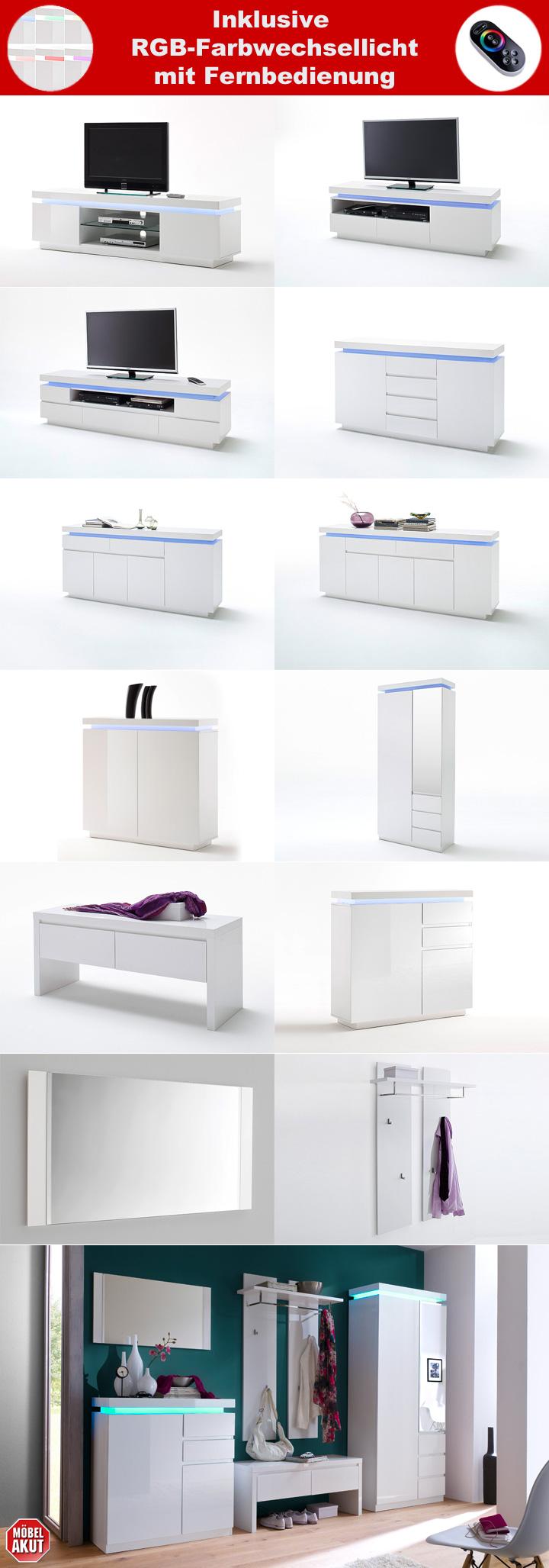 wandpaneel ocean garderobenpaneel paneel in wei hochglanz. Black Bedroom Furniture Sets. Home Design Ideas