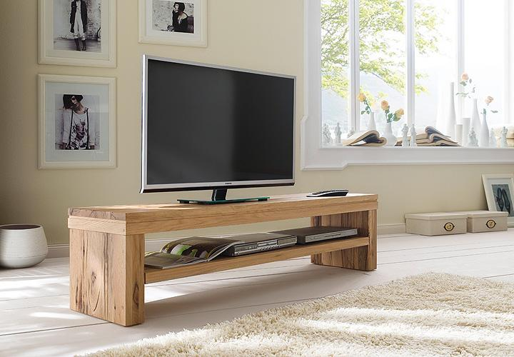 tv board gina lowboard tv unterschrank in wildeiche massiv ebay. Black Bedroom Furniture Sets. Home Design Ideas
