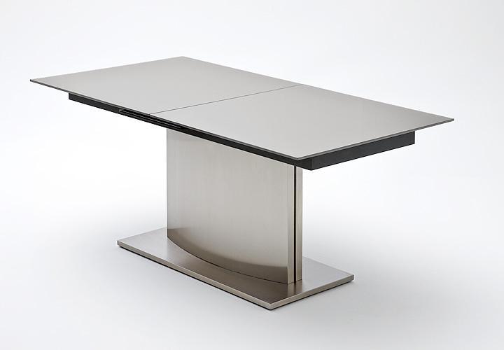 Esstisch MEMORY Dunkelgrau Glas ausziehbar 180-220 cm