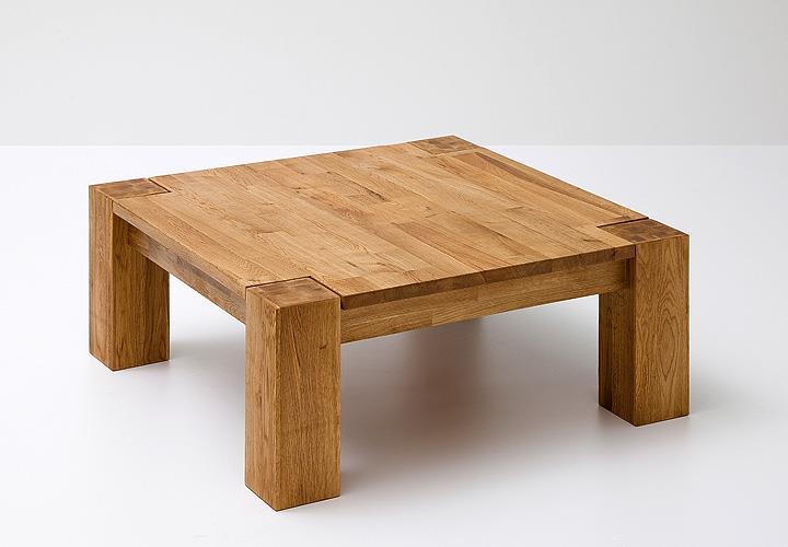 Couchtisch allen asteiche massivholz keilverzinkt 85x85 cm for Designer couchtisch 120x120