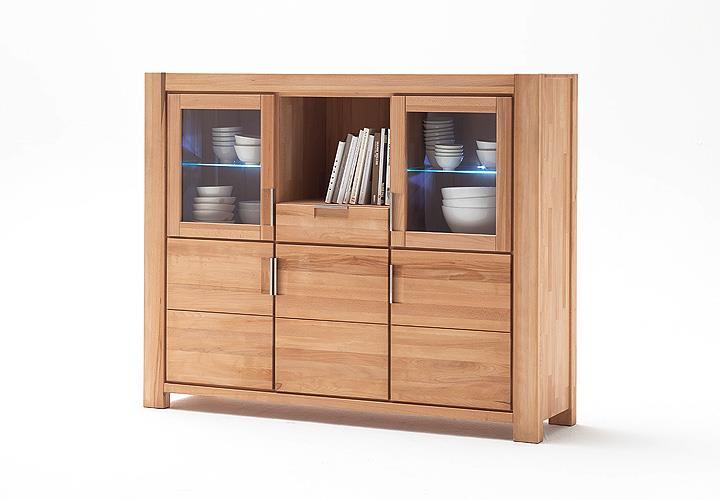 highboard drive anrichte buffet kernbuche massiv ge lt. Black Bedroom Furniture Sets. Home Design Ideas
