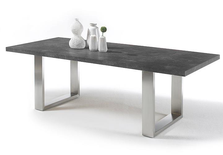 esstisch stone tisch esstisch esszimmertisch anthrazit grau rost mit auswahl ebay. Black Bedroom Furniture Sets. Home Design Ideas