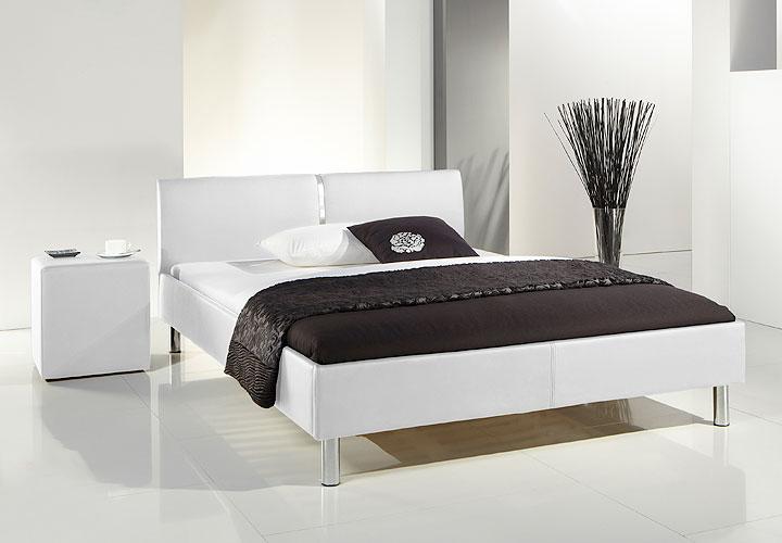ruis polsterbett schwarz chrom 140x200. Black Bedroom Furniture Sets. Home Design Ideas