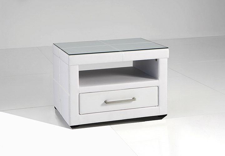 lary nachtkonsole echt leder schwarz. Black Bedroom Furniture Sets. Home Design Ideas