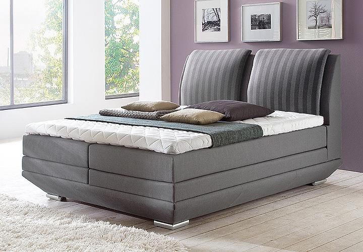 boxspringbett epos steingrau 180x200 cm. Black Bedroom Furniture Sets. Home Design Ideas