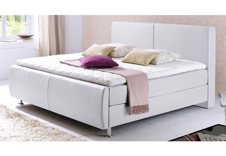 boxspringbett amadeo polsterbett hotelbett in wei 180x200. Black Bedroom Furniture Sets. Home Design Ideas