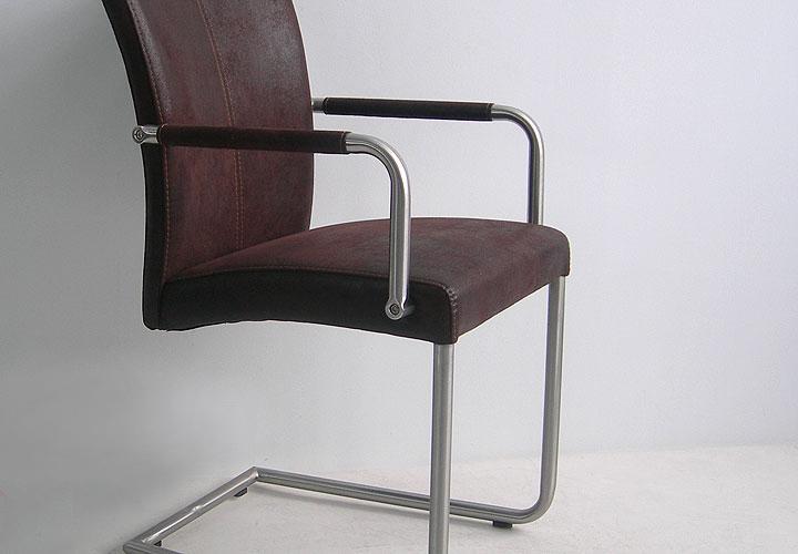 heiko i 4er set schwingstuhl mit armlehnen antik braun. Black Bedroom Furniture Sets. Home Design Ideas