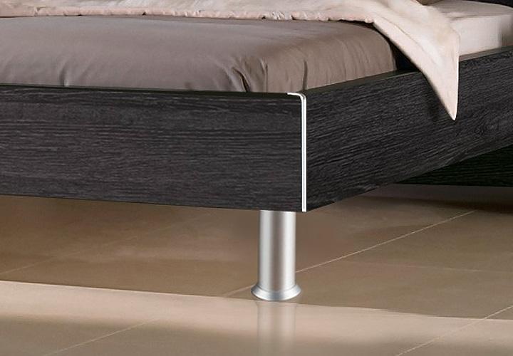 bett fargo von nolte mooreiche und kopfteil wei 200x200 cm. Black Bedroom Furniture Sets. Home Design Ideas