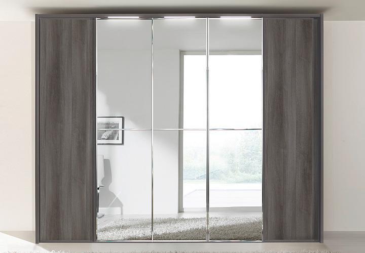 kleiderschrank attraction von nolte mooreiche spiegel b 300. Black Bedroom Furniture Sets. Home Design Ideas