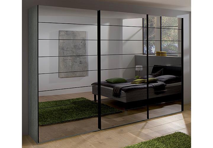 kleiderschrank marcato nolte silbereiche spiegel b 300 cm. Black Bedroom Furniture Sets. Home Design Ideas