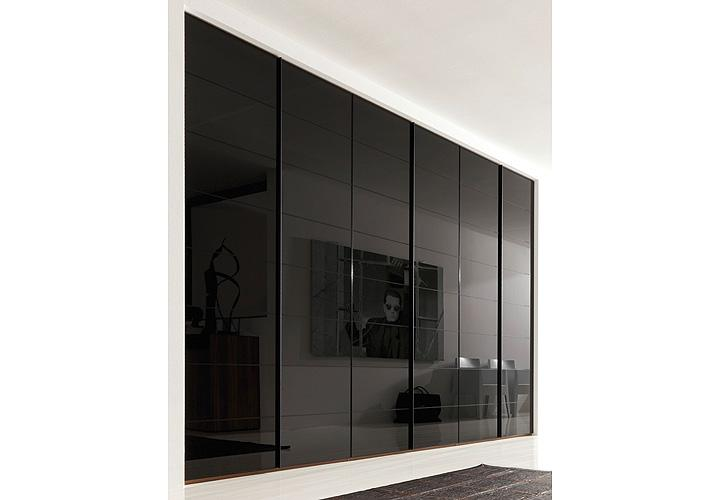 kleiderschrank marcato von nolte walnuss schwarzglas b 300. Black Bedroom Furniture Sets. Home Design Ideas
