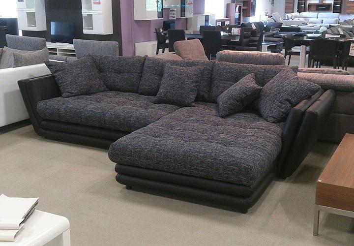 ecksofa neptun wohnlandschaft wei und grau mit bettfunktion. Black Bedroom Furniture Sets. Home Design Ideas