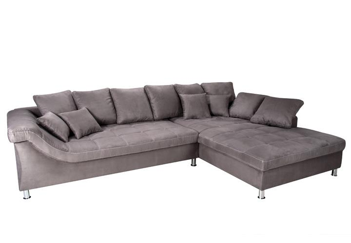 ecksofa miro in elephant grau recamiere rechts 325x229 cm. Black Bedroom Furniture Sets. Home Design Ideas