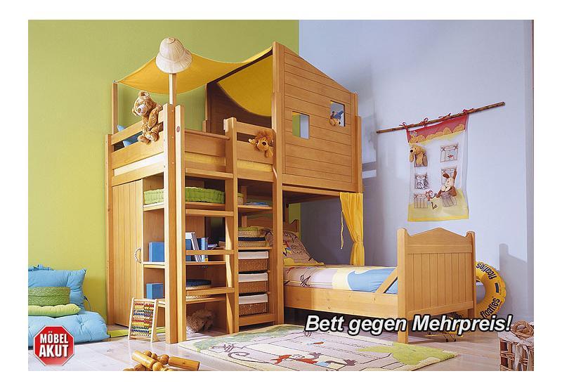 kinderzimmer robby hochbett bett teil massiv neu ebay. Black Bedroom Furniture Sets. Home Design Ideas