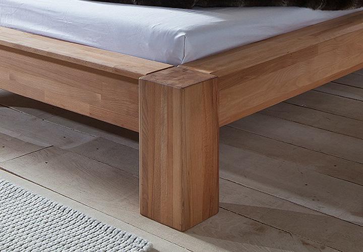 bett lena kernbuche massiv natur ge lt 90x200 cm. Black Bedroom Furniture Sets. Home Design Ideas