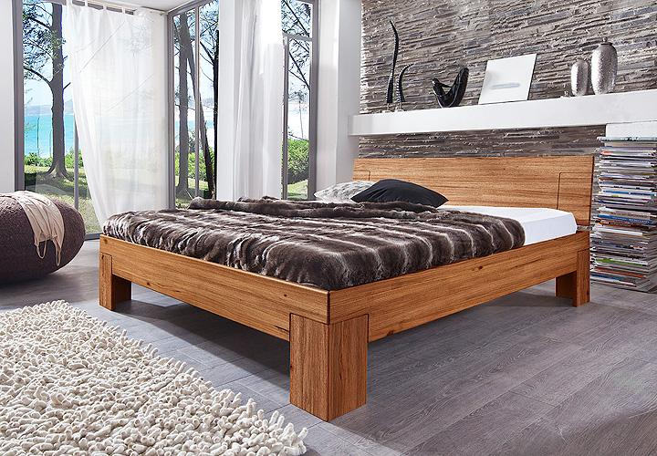 bett sara wildeiche massiv natur ge lt 140x200 cm. Black Bedroom Furniture Sets. Home Design Ideas