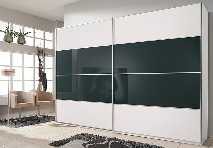 Schwebet renschrank juwel in wei und schwarz breite 270 cm for Wohnlandschaft 270 cm