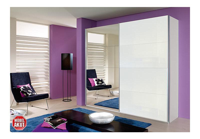 schwebet renschrank quadra spiegel wei glas neu ebay. Black Bedroom Furniture Sets. Home Design Ideas