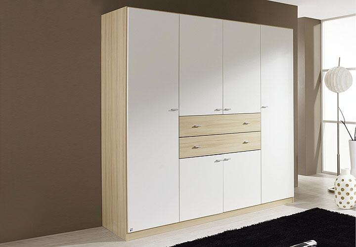 kleiderschrank landsberg wei und buche dekor. Black Bedroom Furniture Sets. Home Design Ideas