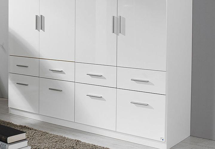 kleiderschrank celle wei hochglanz 181 cm. Black Bedroom Furniture Sets. Home Design Ideas