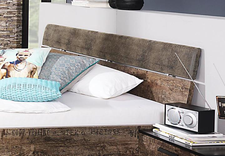 bett sumatra schwarz vintage braun 140 cm. Black Bedroom Furniture Sets. Home Design Ideas