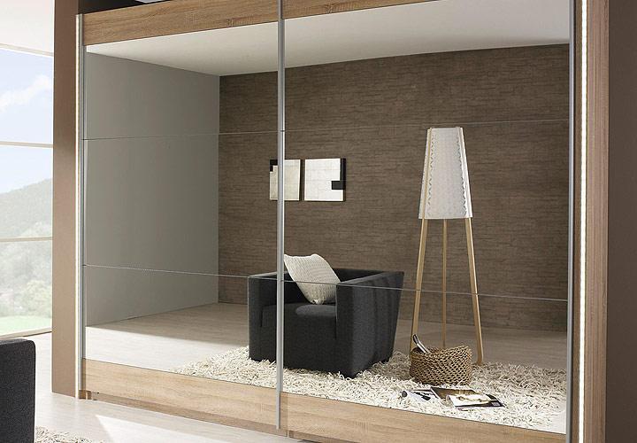 Schwebet renschrank kiano sonoma eiche spiegel 270 cm for Wohnlandschaft 270 cm