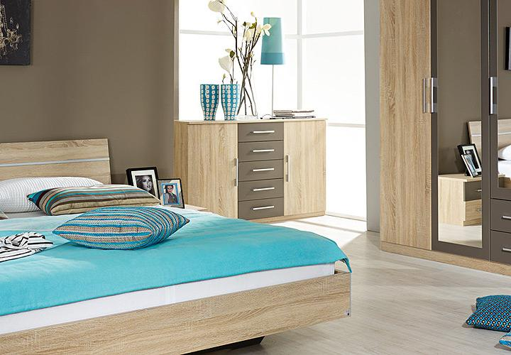 sideboard valence kommode anrichte in sonoma eiche s gerau lava grau neu ebay. Black Bedroom Furniture Sets. Home Design Ideas