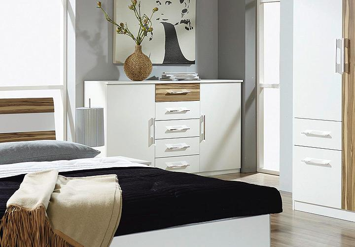 sideboard trino wei baltimore walnuss spiegel. Black Bedroom Furniture Sets. Home Design Ideas