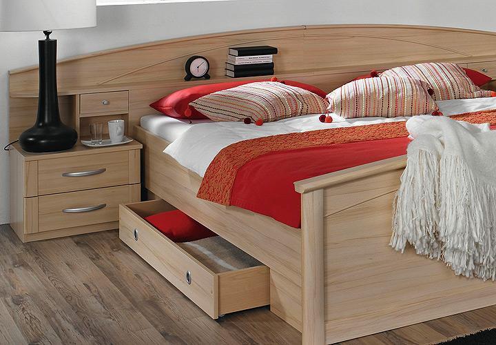 bettanlage i catania buche natur inkl bettschubk sten. Black Bedroom Furniture Sets. Home Design Ideas
