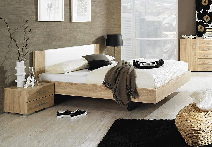 bett sonea sonoma eiche s gerau wei 140 cm. Black Bedroom Furniture Sets. Home Design Ideas