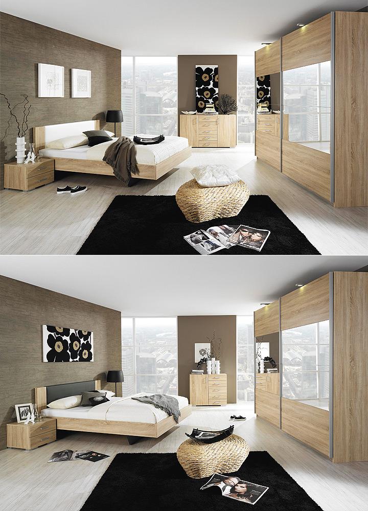 kommode sonea sideboard anrichte in eiche havanna neu ebay. Black Bedroom Furniture Sets. Home Design Ideas