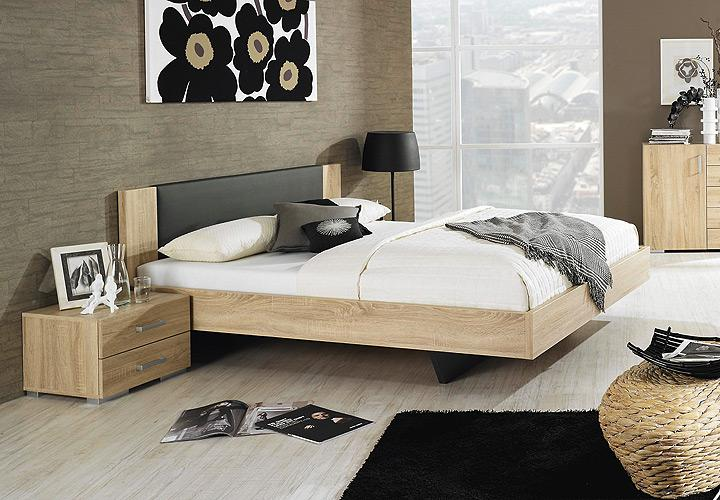 bett sonea sonoma eiche s gerau anthrazit 160 cm. Black Bedroom Furniture Sets. Home Design Ideas