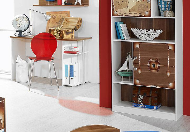 kinderzimmerset iv drake wei kernnussbaum pirat motiv. Black Bedroom Furniture Sets. Home Design Ideas