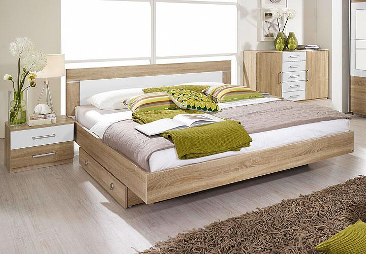 bettanlage venlo sonoma eiche s gerau wei 160. Black Bedroom Furniture Sets. Home Design Ideas