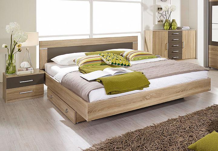 bettanlage venlo sonoma eiche s gerau lavagrau 180. Black Bedroom Furniture Sets. Home Design Ideas