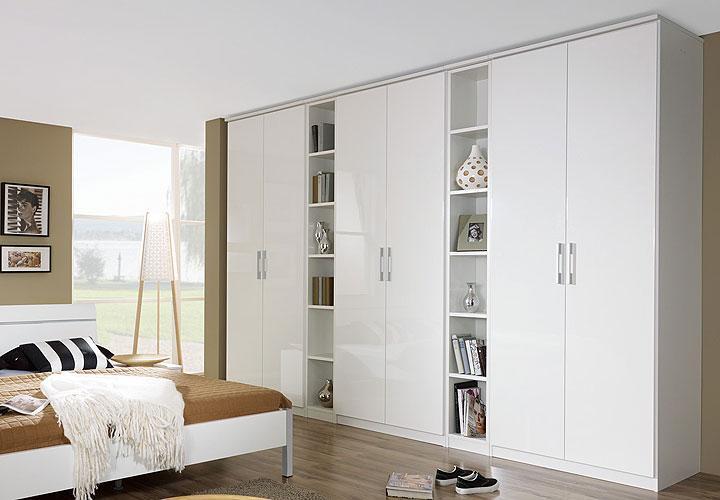 kleiderschrank modena wei hochglanz 339 cm. Black Bedroom Furniture Sets. Home Design Ideas