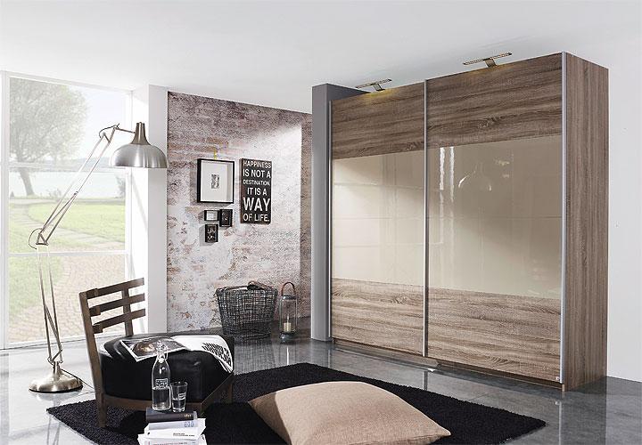schwebet renschrank beluga base havanna eiche sandgrau hochglanz gr enauswahl. Black Bedroom Furniture Sets. Home Design Ideas