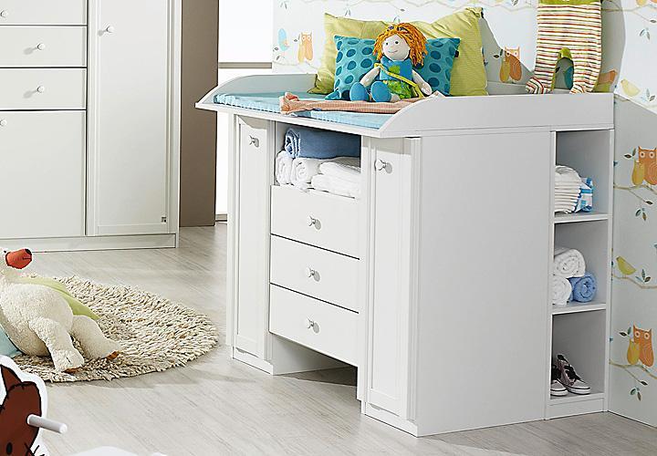 wickelkommode leni kommode wickeltisch in wei mit regal ebay. Black Bedroom Furniture Sets. Home Design Ideas