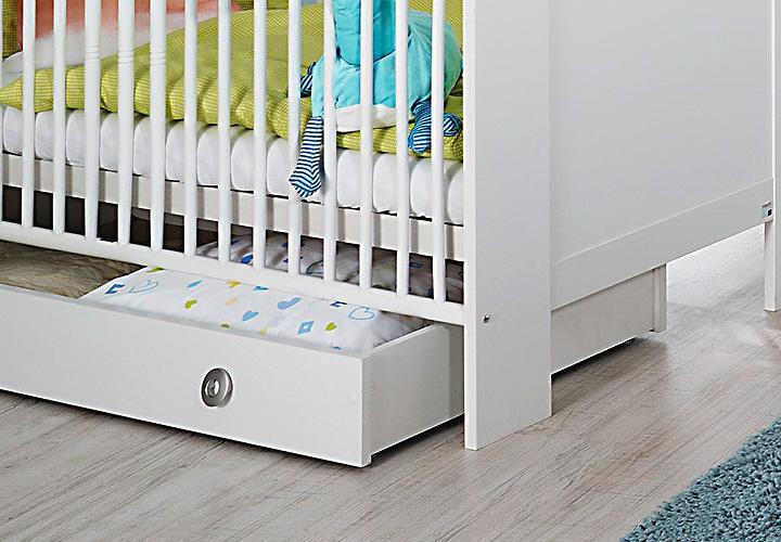 babyzimmer set leni komplett kinderzimmer in wei 5 teilig. Black Bedroom Furniture Sets. Home Design Ideas