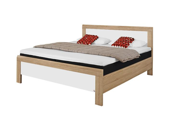 bett utrecht sonoma eiche wei 180x200. Black Bedroom Furniture Sets. Home Design Ideas