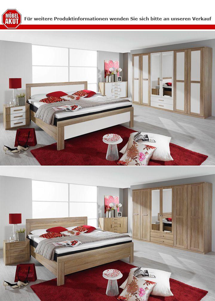 nachtkommode 2er set utrecht sonoma eiche wei. Black Bedroom Furniture Sets. Home Design Ideas