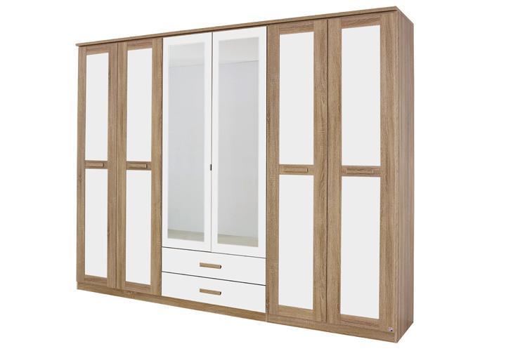 kleiderschrank utrecht sonoma eiche wei. Black Bedroom Furniture Sets. Home Design Ideas