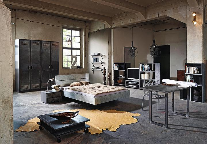 schreibtisch workbase industrieoptik alteisen. Black Bedroom Furniture Sets. Home Design Ideas