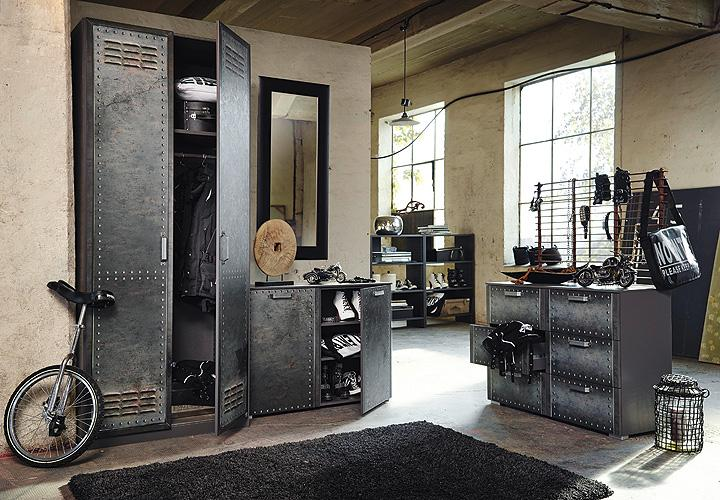 kommode ii workbase industrieoptik graphit. Black Bedroom Furniture Sets. Home Design Ideas