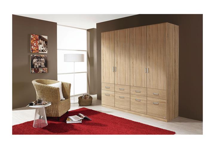 kleiderschrank aalen schrank schlafzimmerschrank sonoma eiche 181 ebay. Black Bedroom Furniture Sets. Home Design Ideas