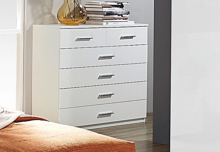 Kommode Schlafzimmer Weiß Hochglanz ~ Kommode LORCA Schlafzimmer weiß Hochglanz 6 Schubkästen